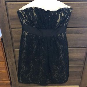 WHBM lace strapless dress